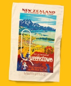 Queestown Printed Tea Towel